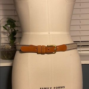 Vintage Coach Wool and Leather Belt